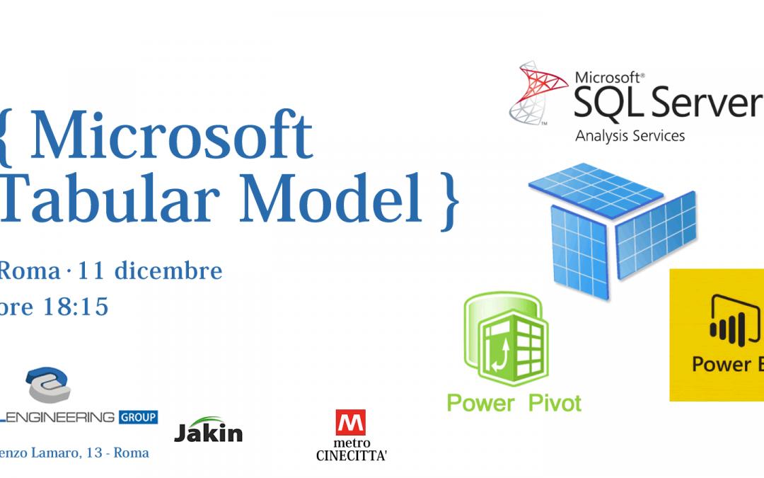Workshop Microsoft Tabular model